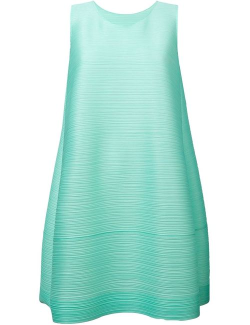 PLEATS PLEASE BY ISSEY MIYAKE | Женское Зелёный Ribbed Effect Shift Dress