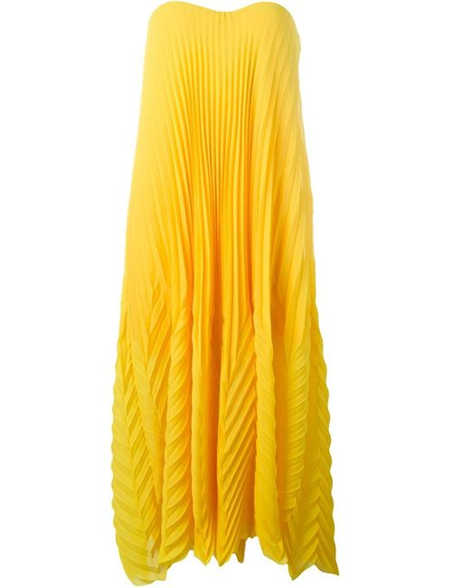 MSGM | Женское Желтый Strapless Pleated Dress