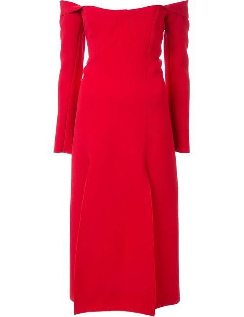 Christopher Esber | Женское Красное Платье С Открытыми Плечами