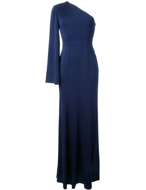 GINGER & SMART | Женское Синее Платье На Одно Плечо