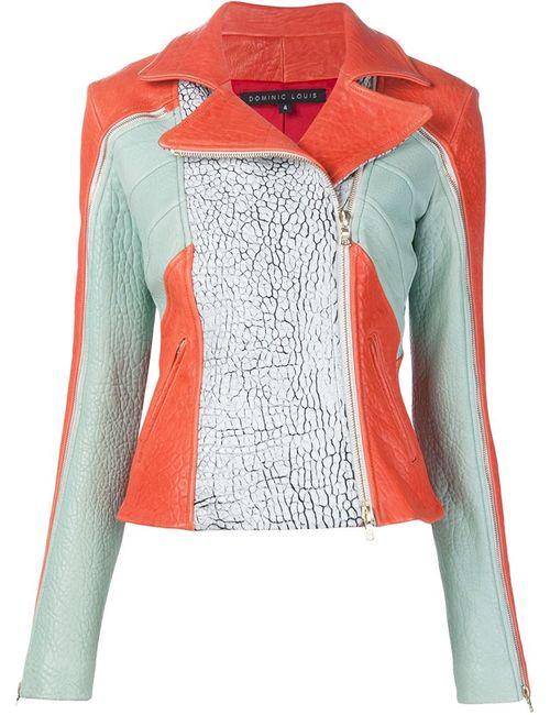 DOMINIC LOUIS | Женское Красный Panelled Biker Jacket