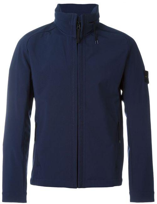 Stone Island | Мужская Синяя Спортивная Куртка На Молнии