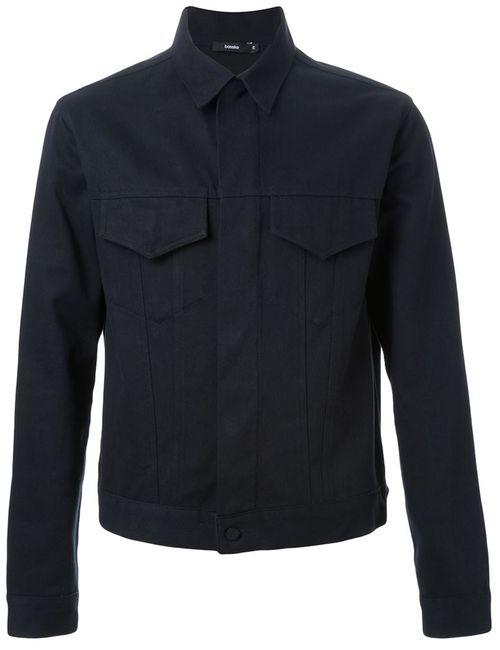 Bassike   Мужская Чёрная Джинсовая Куртка