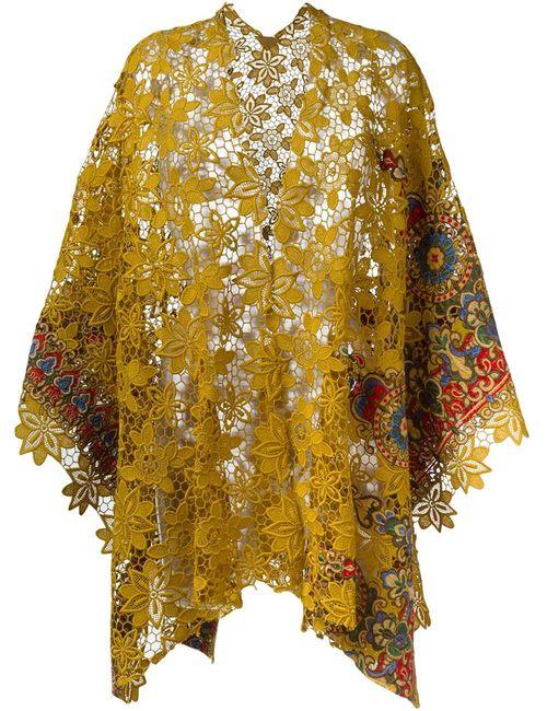 ERMANNO GALLAMINI   Женское Желтый Lace Cape