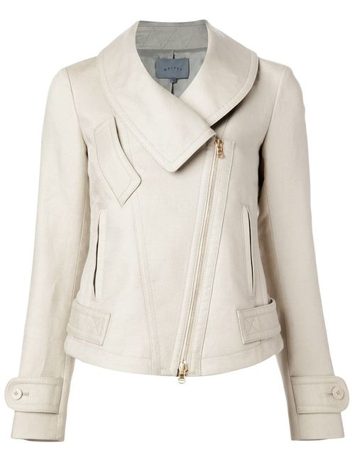 Maiyet | Женское Nude & Neutrals Off-Centre Zip Fitted Jacket