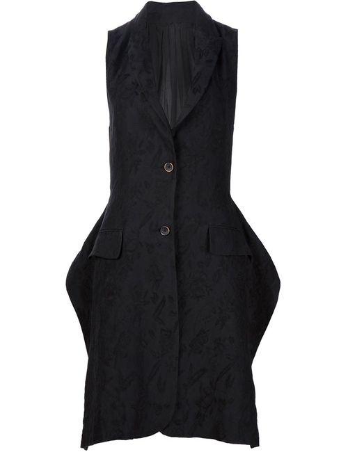 UMA WANG   Женское Чёрный Long Jacquard Waistcoat
