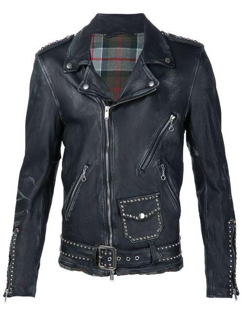 Undercover | Мужское Синий Studded Biker Jacket