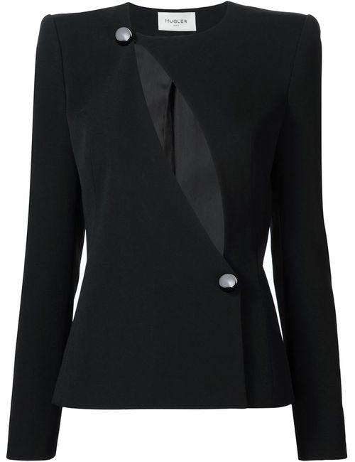 Mugler | Женское Чёрный Chest Slit Fitted Jacket