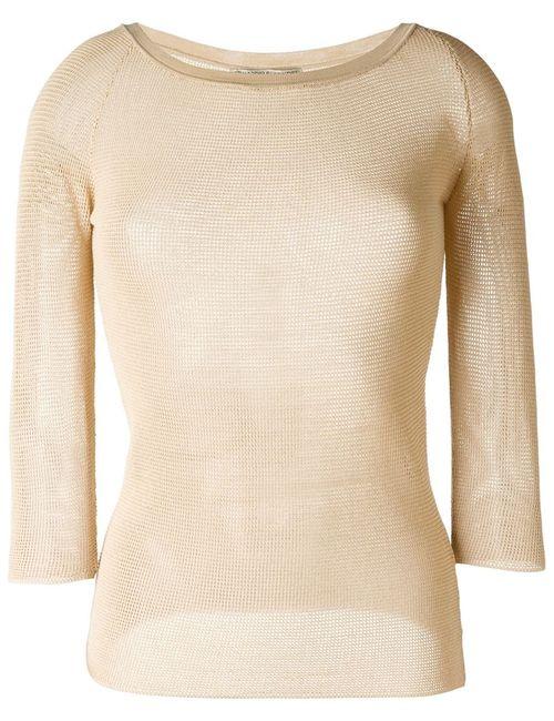 Ermanno Scervino | Женское Коричневый Sheer Knitted Top