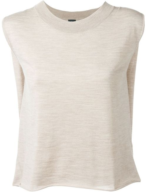 Eleventy | Женское Nude & Neutrals Sleeveless Mélange Top