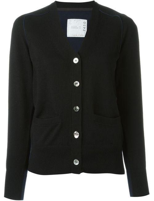 Sacai | Женское Чёрный Bi-Colour Cardigan