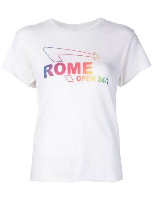 The Elder Statesman | Женское Белый Rome Knitted T-Shirt