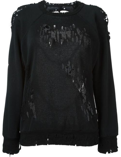 UNRAVEL | Женское Черный Destroyed Sweater