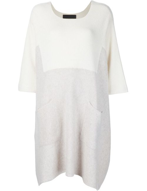 The Elder Statesman | Женское Nude & Neutrals Knitted Colour Block Dress