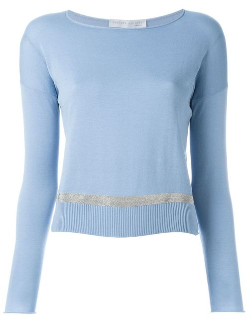 Fabiana Filippi | Женское Синий Ribbed Hem Sweater