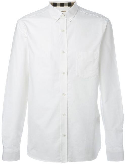 Burberry Brit | Мужская Белая Классическая Рубашка