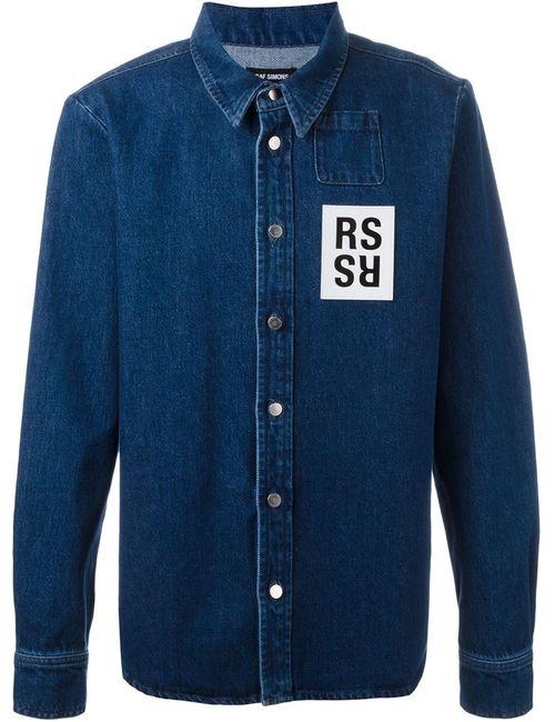 Raf Simons | Мужская Синяя Джинсовая Рубашка