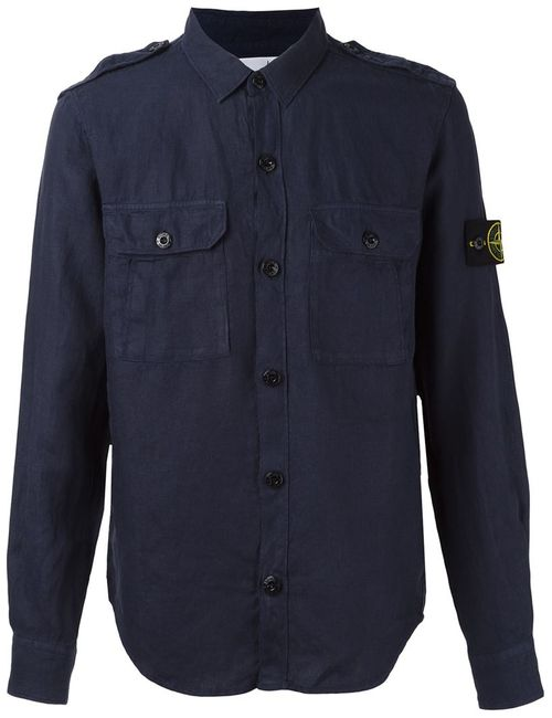 Stone Island | Мужское Синий Shoulder Strap Shirt