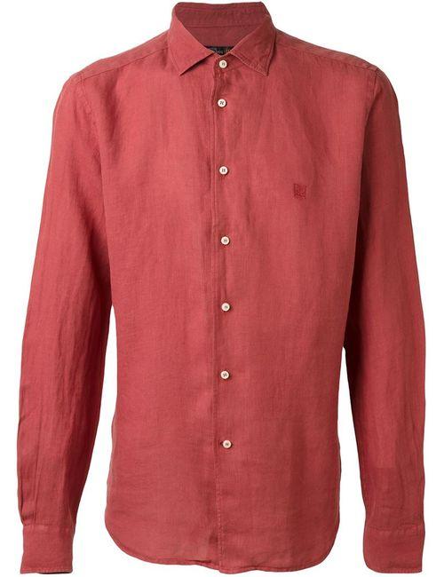 Corneliani | Мужская Красная Рубашка С Вышитым Логотипом