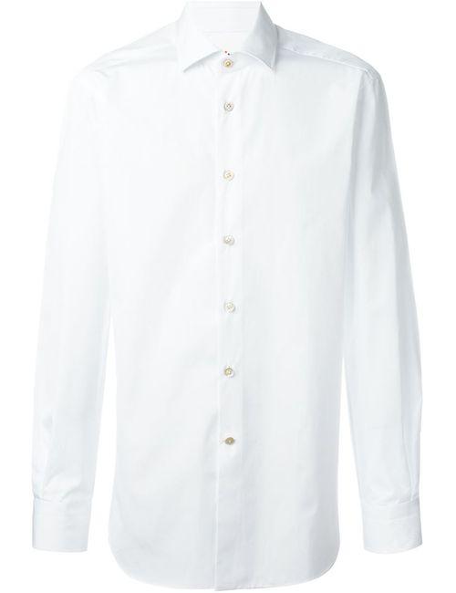 Kiton | Мужская Белая Рубашка На Пуговицах