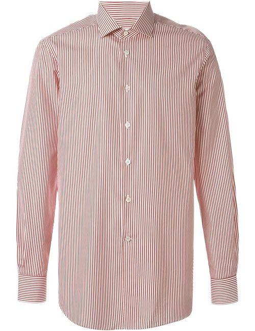 Kiton | Мужская Красная Полосатая Рубашка