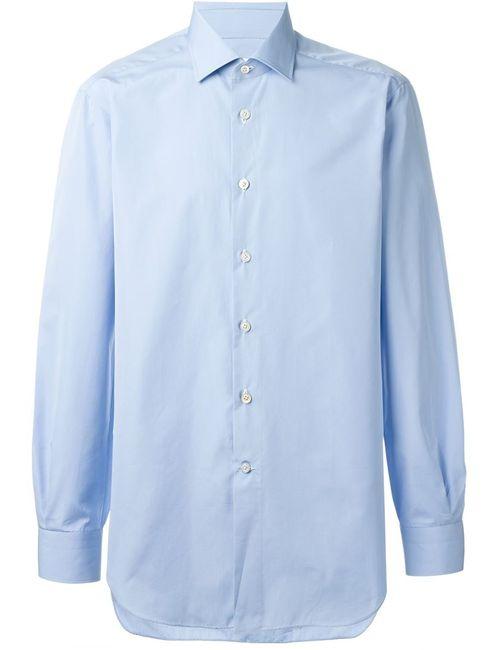 Kiton | Мужская Синяя Классическая Рубашка