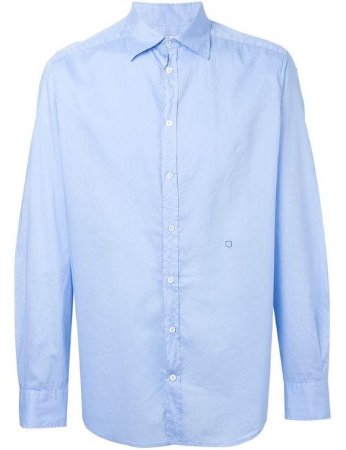 Massimo Alba   Мужское Синий Stitch Detail Shirt