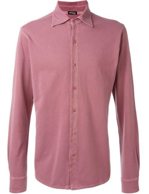 Kiton | Мужская Розовая Классическая Рубашка