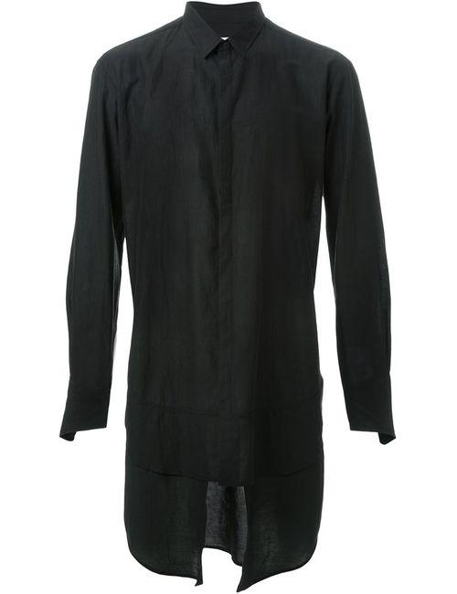 STRATEAS CARLUCCI | Мужская Чёрная Рубашка С Многослойным Подолом