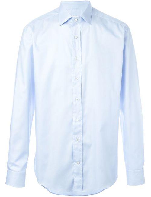 Etro | Мужская Синяя Классическая Рубашка На Пуговицах