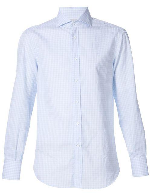 Brunello Cucinelli | Мужское Синий Checked Shirt