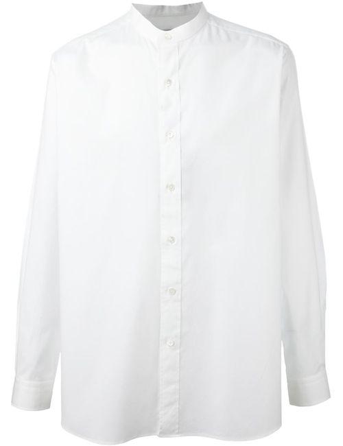 Ports | Мужская Белая Рубашка С Воротником-Стойкой