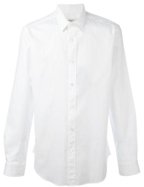 Ports | Мужская Белая Классическая Рубашка
