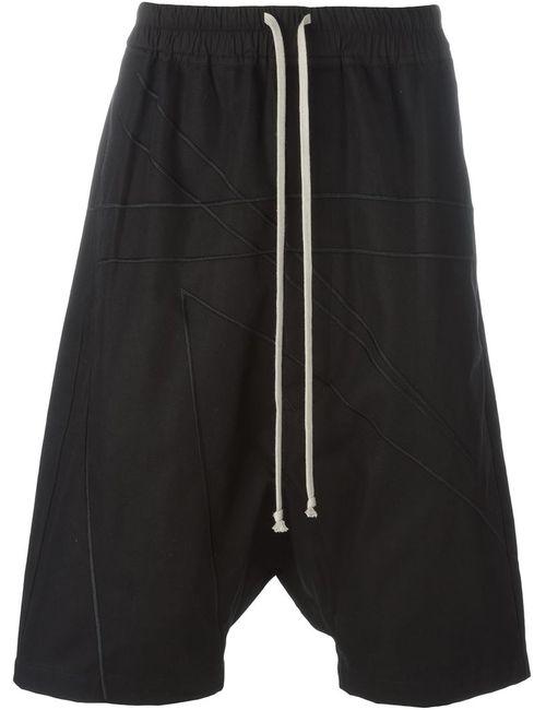 Rick Owens | Мужское Чёрный Drop Crotch Shorts