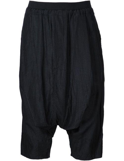 JULIUS | Мужское Чёрный Lightweight Harem Shorts