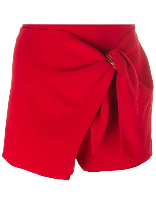 Ermanno Scervino   Женское Красный Wrapped Detail Shorts