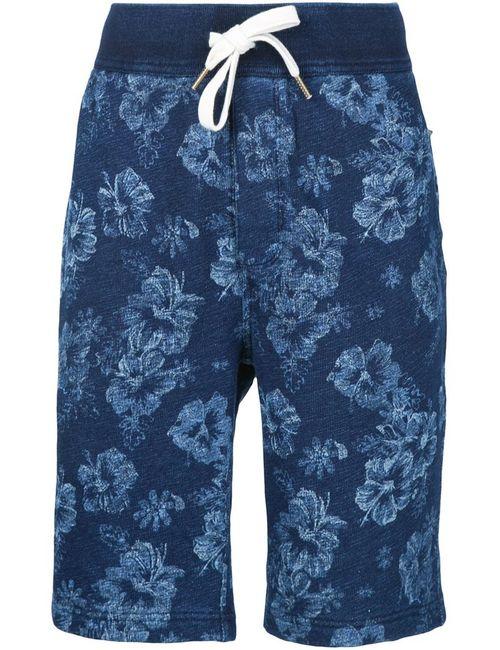 ALEX MILL | Мужское Синий Flower Print Bermuda Shorts