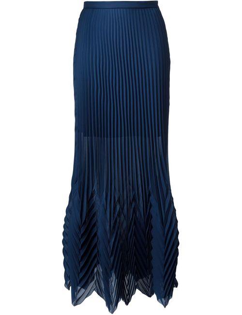 MSGM | Женская Синяя Длинная Плиссированная Юбка
