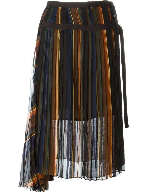 Sacai   Женское Многоцветный Pleated Midi Skirt