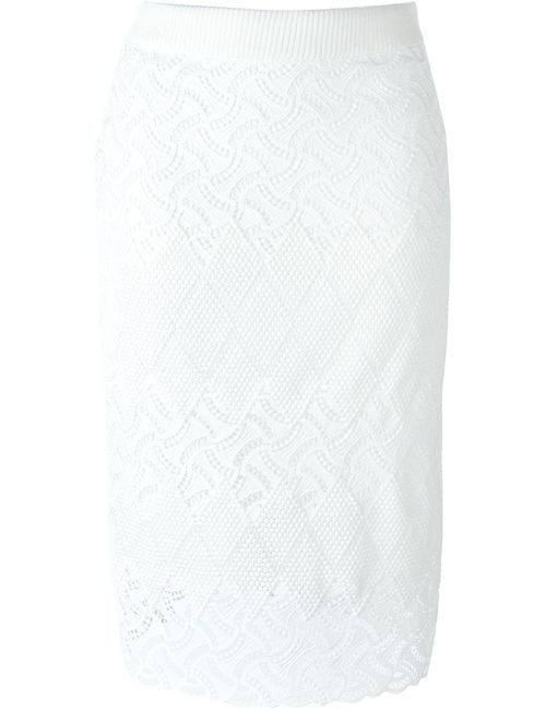 Ermanno Scervino | Женское Белый Macrame Mid-Length Pencil Skirt