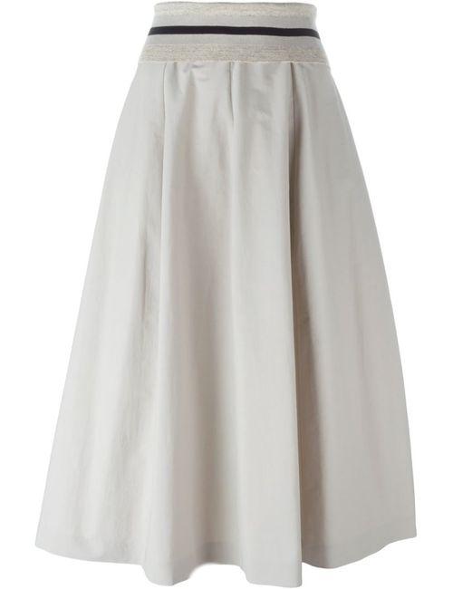 Brunello Cucinelli | Женское Серый A-Line Skirt