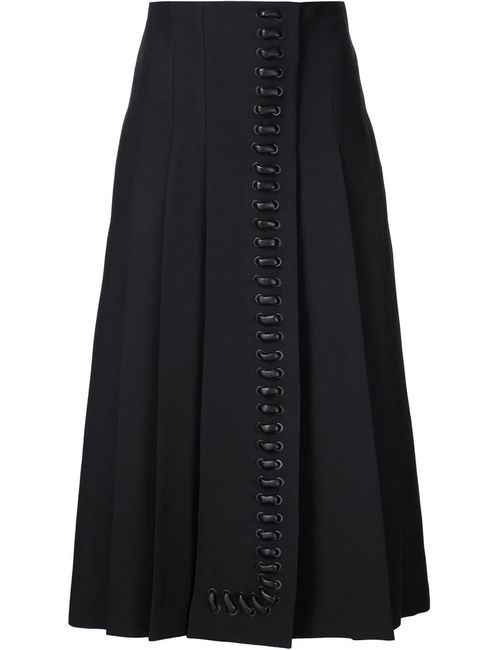 Fendi | Женское Чёрный Pleated Midi Skirt