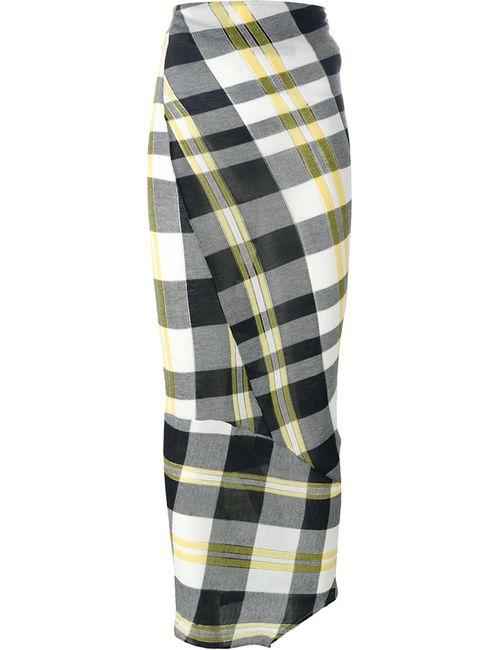Stella Mccartney   Женская Многоцветная Юбка Solid Check
