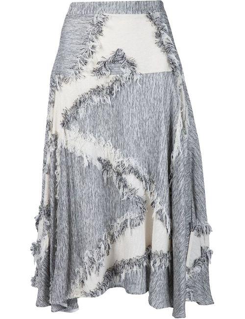 Derek Lam | Женское Серый Frayed Effect A-Line Skirt