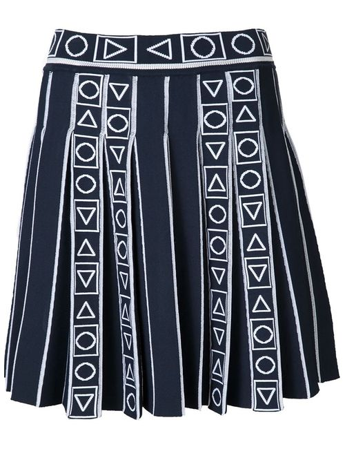 Peter Pilotto | Женское Синий Pleated Jacquard Skirt