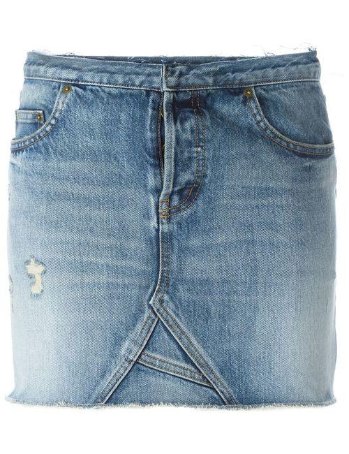 Saint Laurent | Женское Синий Denim Mini Skirt