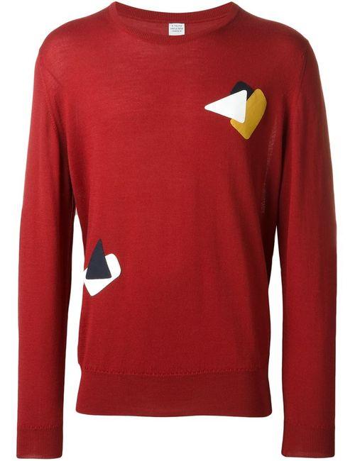 E. Tautz   Мужское Красный Fine Knit Sweater