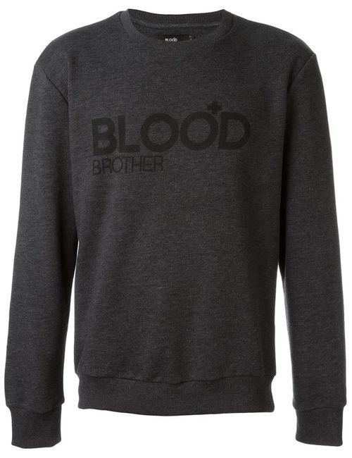 Blood Brother | Мужское Серый Logo Print Sweater