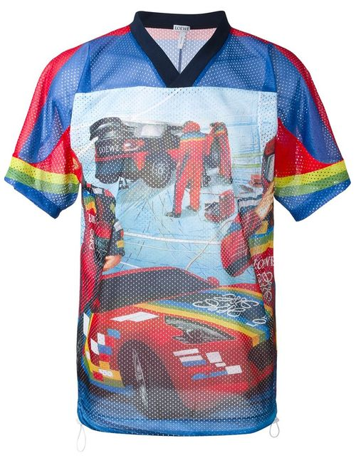 Loewe | Мужское Многоцветный Racing Nascar Print T-Shirt