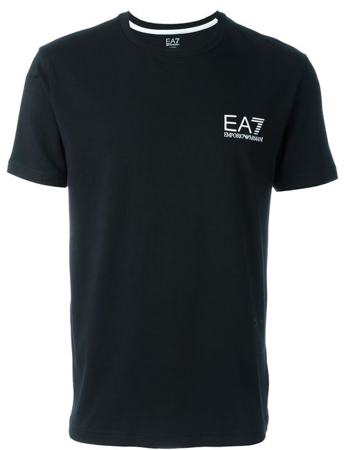 EA7 EMPORIO ARMANI | Мужское Чёрный Side Logo T-Shirt